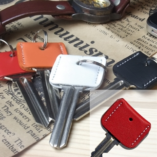 LEATHER KEY COVERレッド