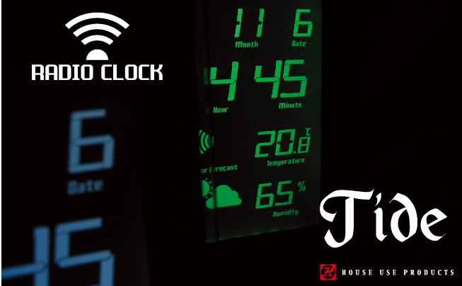 LCD RADIO CLOCK TIDE