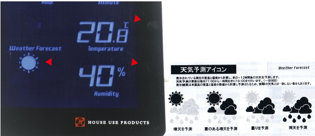LCD RADIO CLOCK TIDEの説明04