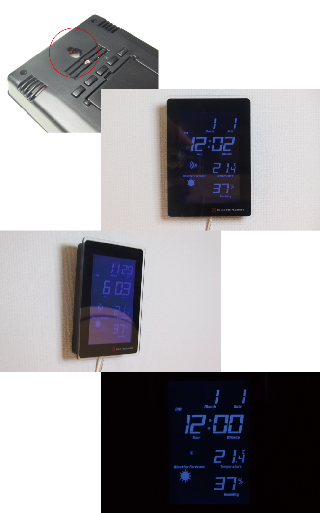 LCD RADIO CLOCK TIDEの説明05